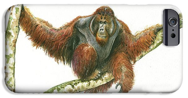 Orangutang IPhone 6s Case by Juan Bosco