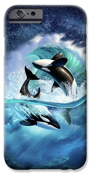 Dolphin iPhone 6s Case - Orca Wave by Jerry LoFaro