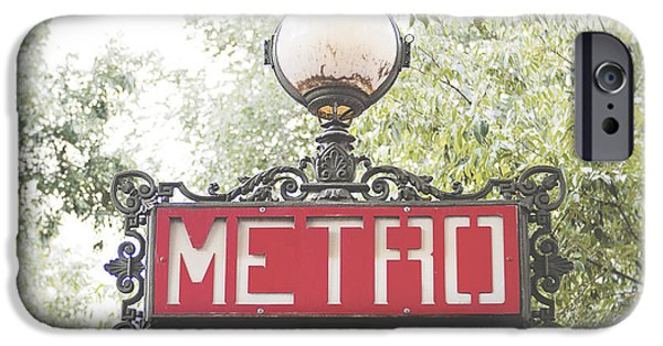 Ornate Paris Metro Sign IPhone 6s Case by Ivy Ho