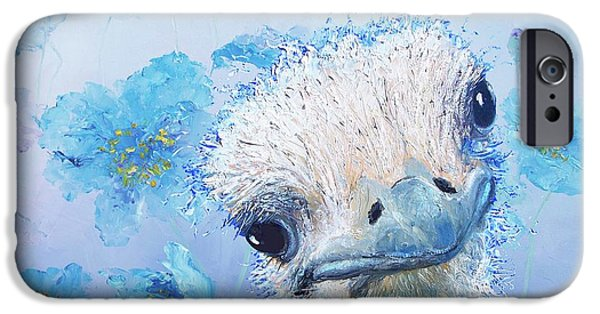 Ostrich In A Field Of Poppies IPhone 6s Case by Jan Matson