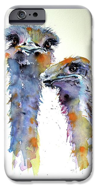 Ostrich iPhone 6s Case - Ostriches by Kovacs Anna Brigitta