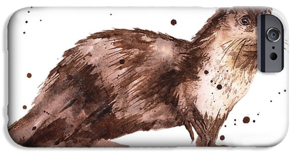 Otter Painting IPhone 6s Case by Alison Fennell
