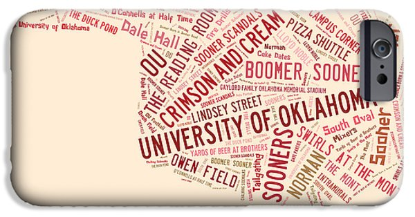 Ou Word Art University Of Oklahoma IPhone 6s Case by Roberta Peake