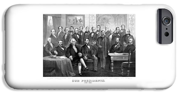 George Washington iPhone 6s Case - Our Presidents 1789-1881 by War Is Hell Store