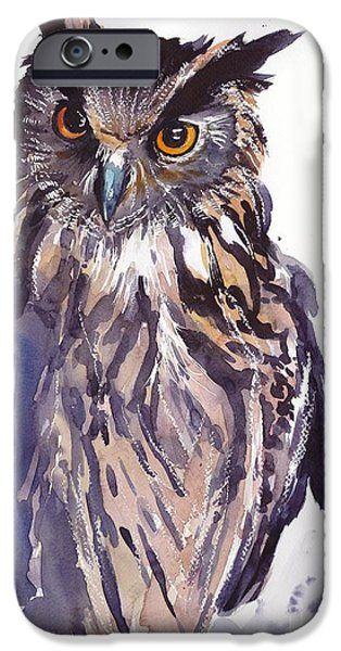 Pigeon iPhone 6s Case - Owl Watercolor by Suzann's Art