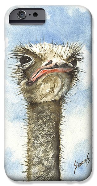 Ostrich iPhone 6s Case - Ozzie by Sam Sidders