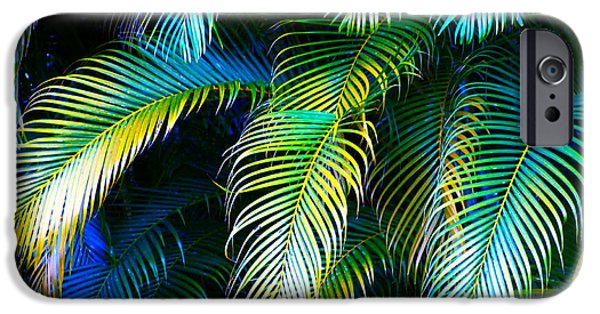 Palm Leaves In Blue IPhone 6s Case