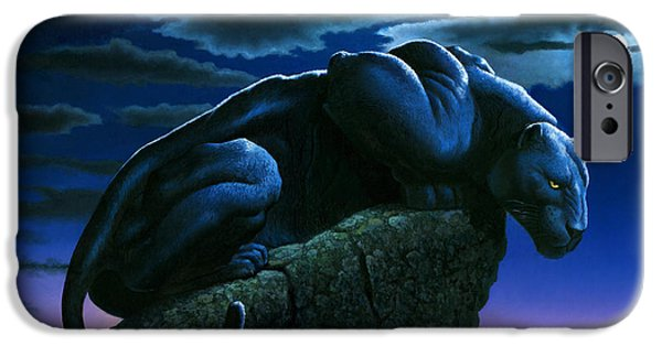 Panther On Rock IPhone 6s Case by MGL Studio - Chris Hiett