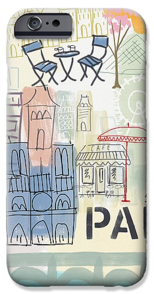 Cities iPhone 6s Case - Paris Cityscape- Art By Linda Woods by Linda Woods