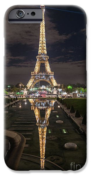 Paris Eiffel Tower Dazzling At Night IPhone 6s Case by Mike Reid