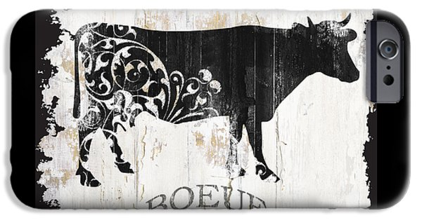 Cow iPhone 6s Case - Paris Farm Sign Cow by Mindy Sommers