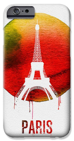 Paris Landmark Red IPhone 6s Case by Naxart Studio