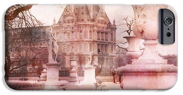Paris Tuileries Park Garden - Jardin Des Tuileries Garden - Paris Tuileries Louvre Garden Sculpture IPhone 6s Case by Kathy Fornal