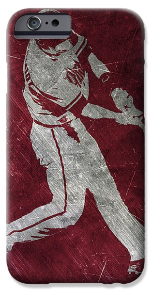 Diamondback iPhone 6s Case - Paul Goldschmidt Arizona Diamondbacks Art by Joe Hamilton