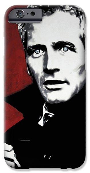 Paul Newman IPhone Case by Luis Ludzska