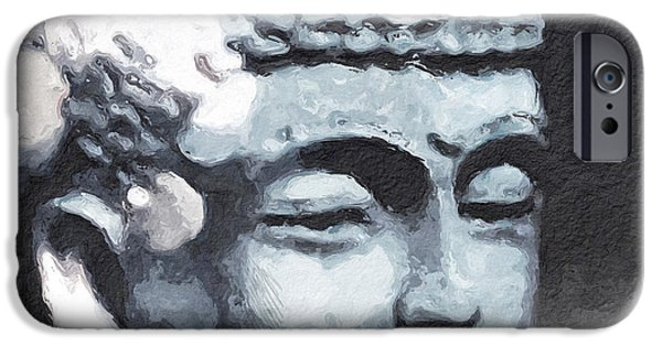 Contemporary iPhone 6s Case - Peaceful Buddha 3- Art By Linda Woods by Linda Woods