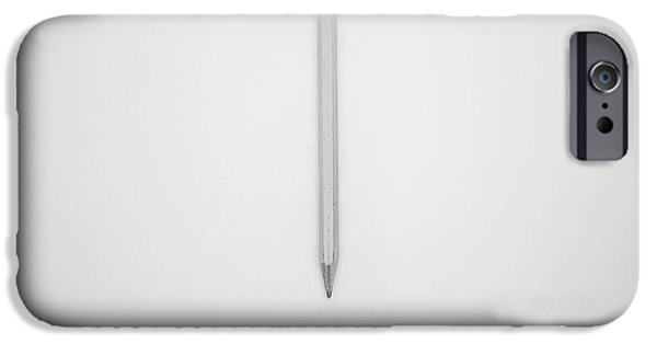 Pencil iPhone 6s Case - Pencil On A Blank Page by Scott Norris