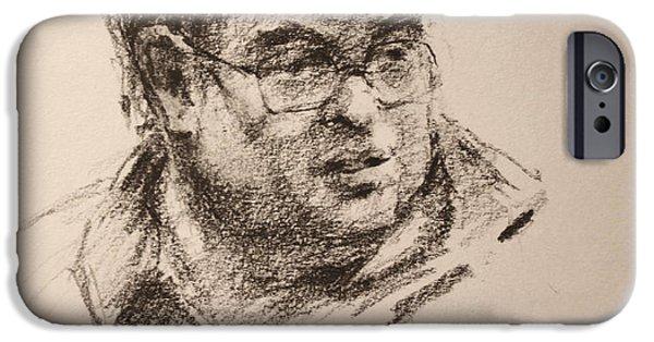 Pencil iPhone 6s Case - Sketch Man 8 by Ylli Haruni