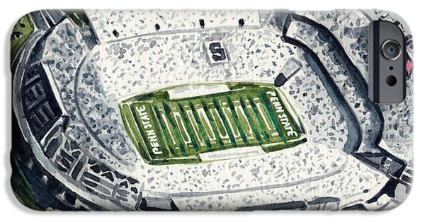 Penn State Beaver Stadium Whiteout Game University Psu Nittany Lions Joe Paterno IPhone 6s Case by Laura Row