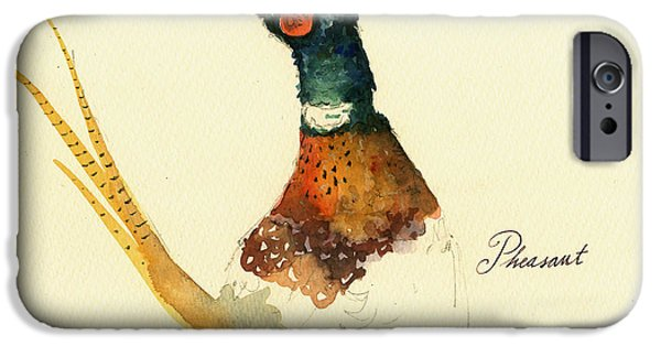 Pheasant iPhone 6s Case - Pheasant Painting by Juan  Bosco