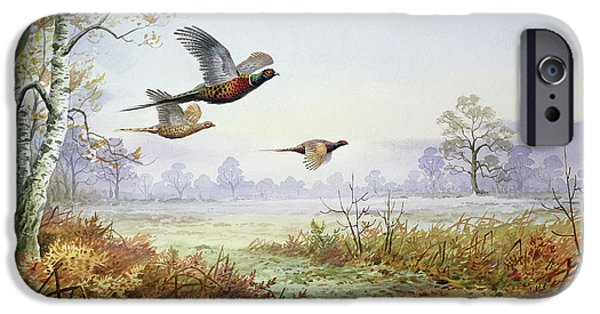 Pheasant iPhone 6s Case - Pheasants In Flight  by Carl Donner