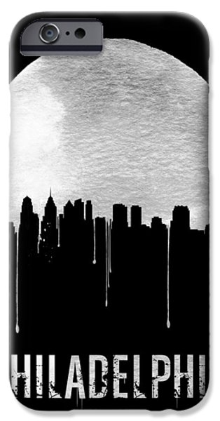 Philadelphia Skyline Black IPhone 6s Case by Naxart Studio