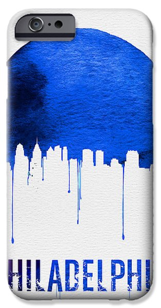 Philadelphia Skyline Blue IPhone 6s Case by Naxart Studio