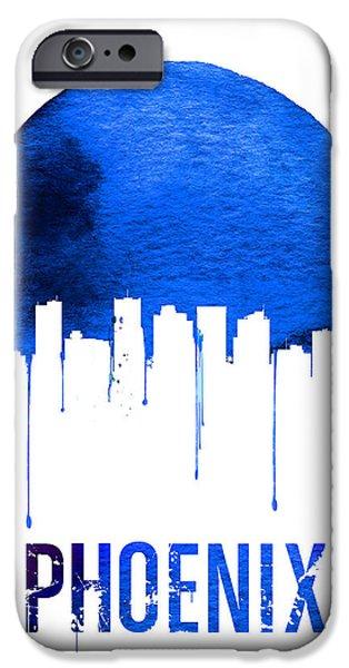 Phoenix Skyline Blue IPhone 6s Case by Naxart Studio