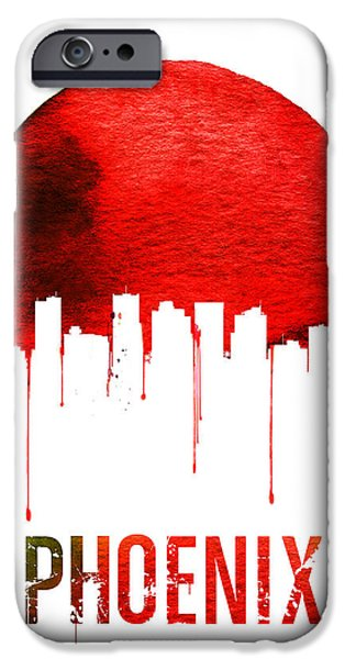 Phoenix Skyline Red IPhone 6s Case by Naxart Studio
