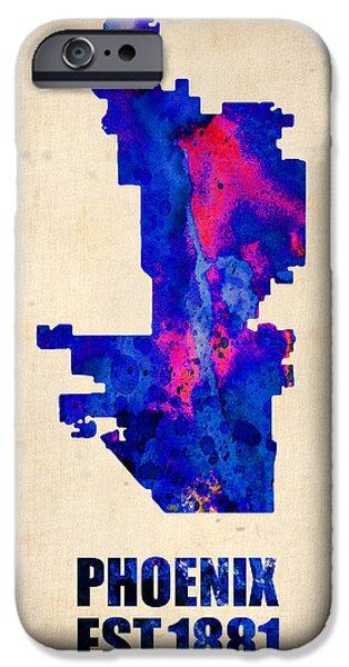 Phoenix Watercolor Map IPhone 6s Case by Naxart Studio