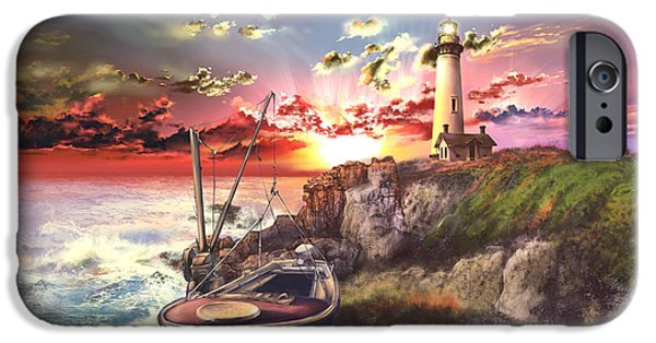 Pigeon iPhone 6s Case - Pigeon Point Lighthouse by Bekim Art