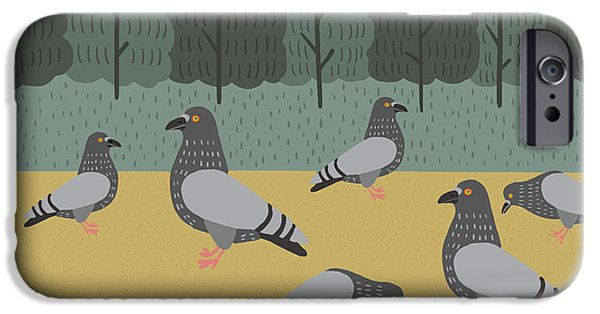 Pigeon iPhone 6s Case - Pigeons Day Out by Nicole Wilson