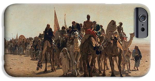Pilgrims Going To Mecca IPhone 6s Case by Leon Auguste Adolphe Belly