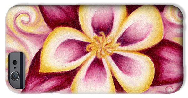 Pink And Yellow Columbine Flower Drawing IPhone 6s Case