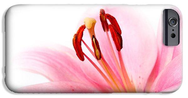 Pink Lilies 08 IPhone Case by Nailia Schwarz