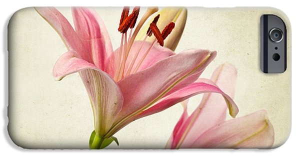 Lily iPhone 6s Case - Pink Lilies by Nailia Schwarz
