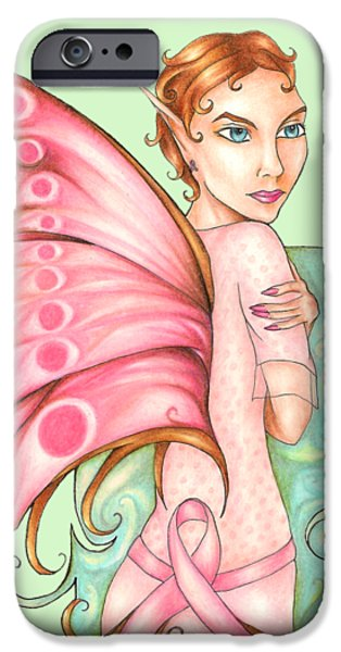Pink Ribbon Fairy For Breast Cancer Awareness IPhone 6s Case