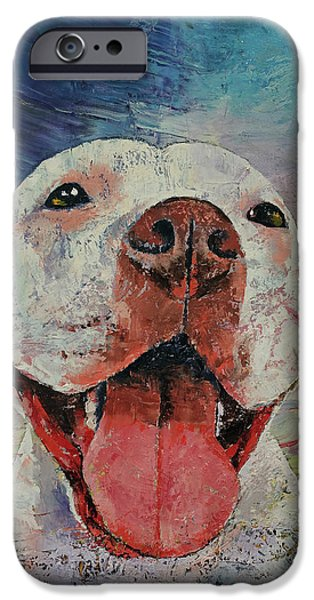 Contemporary Realism iPhone 6s Case - Pitbull by Michael Creese