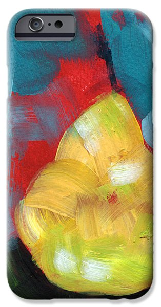 Pear iPhone 6s Case - Plump Pear- Art By Linda Woods by Linda Woods