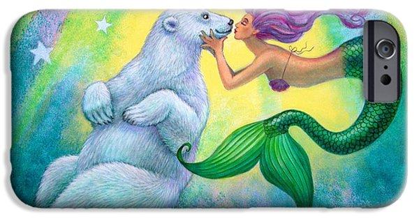 Mermaid iPhone 6s Case - Polar Bear Kiss by Sue Halstenberg