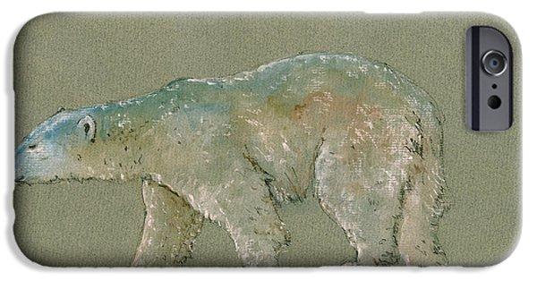 Polar Bear iPhone 6s Case - Polar Bear Original Watercolor Painting Art by Juan  Bosco