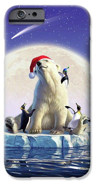 Polar Bear iPhone 6s Case - Polar Season Greetings by Jerry LoFaro