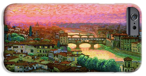 Impressionism iPhone 6s Case - Ponte Vecchio Sunset Florence by Jane Small