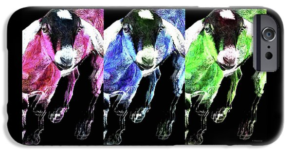 Pop Art Goats Trio - Sharon Cummings IPhone 6s Case by Sharon Cummings