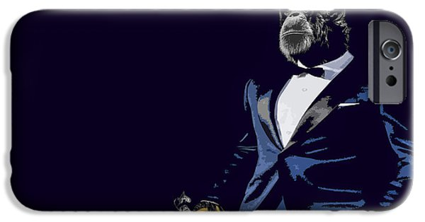 Chimpanzee iPhone 6s Case - Pop Fiction by Paul Neville
