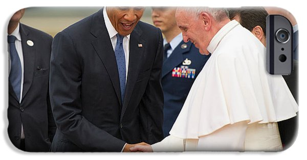 Pope Francis And President Obama IPhone 6s Case by Mountain Dreams