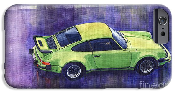 Car iPhone 6s Case - Porsche 911 Turbo Green by Yuriy Shevchuk