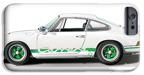 Digital Image iPhone 6s Case - Porsche Carrera Rs Illustration by Alain Jamar