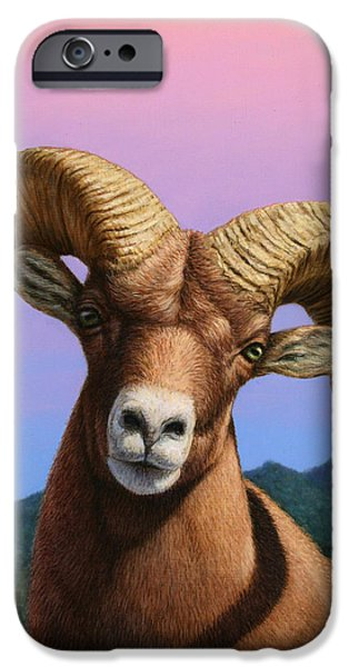 Portrait Of A Bighorn IPhone Case by James W Johnson