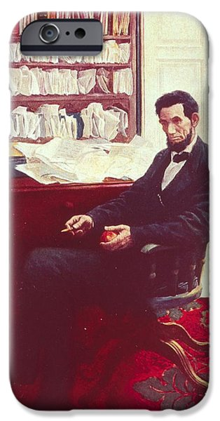 Portrait Of Abraham Lincoln IPhone Case by Howard Pyle